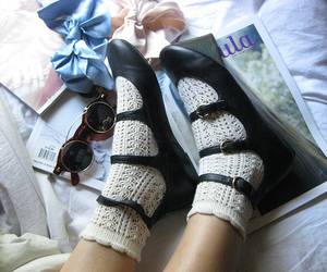 shoes, bows, and socks image