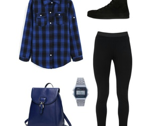 black, blue, and look image