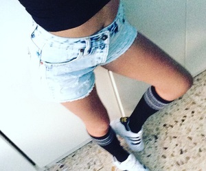 girl, adidas, and bored image