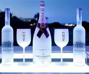 moet, belvedere, and drink image