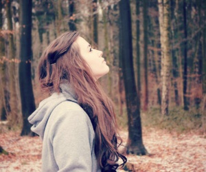 girl, forest, and hair image