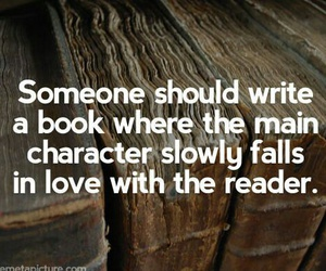 book, quote, and reader image