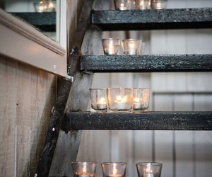 candle, light, and stairs image