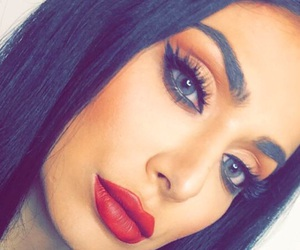 arab, makeup, and red lipstick image