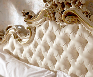 bed, luxury, and gold image
