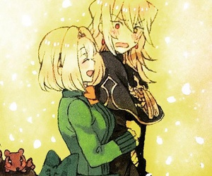 baskerville, pandora hearts, and anime couple image