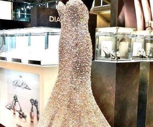 dress, diamond, and wedding image