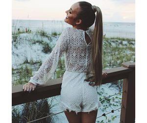 awesome, beach, and blonde girl image