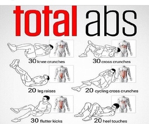 abs, workout, and ab workouts image