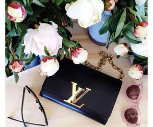fashion, flowers, and Louis Vuitton image