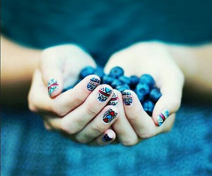 blue, photography, and blueberries image