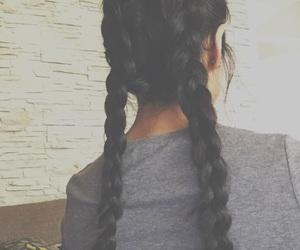 black hair, braids, and hair image
