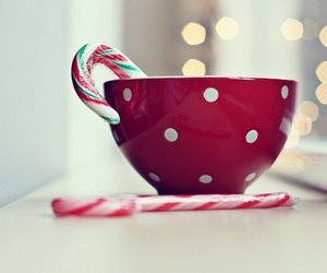 christmas, candy, and cup image