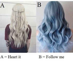 hair, blue, and a or b image