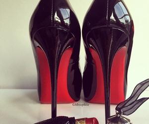 fashion, lipstick, and heels image