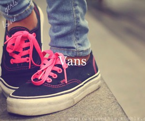pink, vans, and girl image