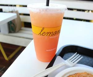 drink, lemonade, and food image