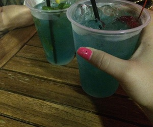 blue, holiday, and cocktail image