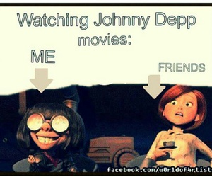 funny, johnny depp, and movie image