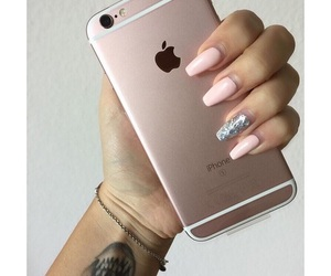 iphone, nails, and beautiful image
