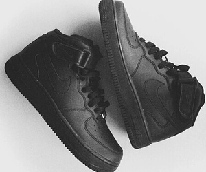 air force, black, and nike image