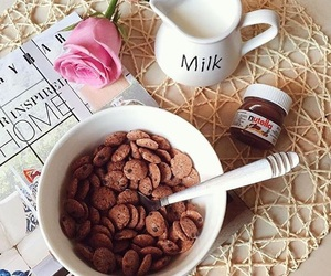 chocolate, food, and milk image
