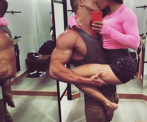 couple, fitness, and true love image