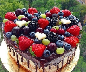 food, heart, and cake image