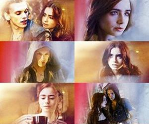 Jamie Campbell Bower, lily collins, and mortal instrument image