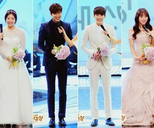 park shin hye, kim tan, and lee min ho image
