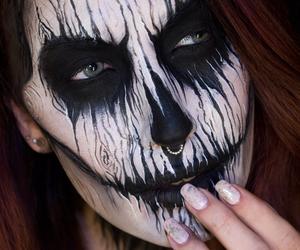 make up, septum, and skeleton image