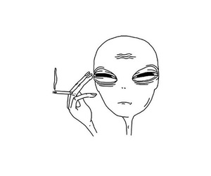 alien and drawing image