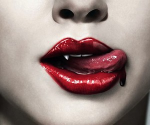 vampire, blood, and lips image