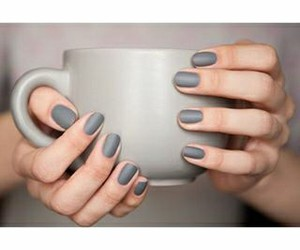grey, nail polish, and nails image