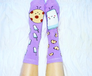socks, cookie, and cute image