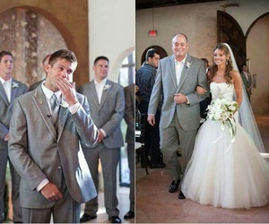 wedding, love, and cry image