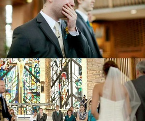 love, wedding, and cry image