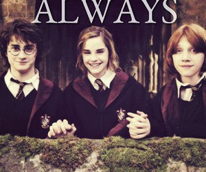 always, harry potter, and golden trio image