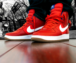 legs, nike, and red image