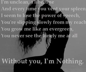 Lyrics, Placebo, and without you image