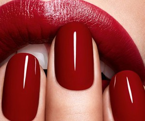 nails, lips, and red image