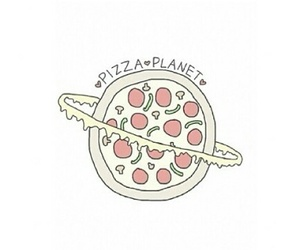 pizza, planet, and love image