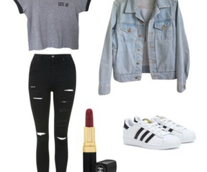 fashion, outfit, and adidas superstar image