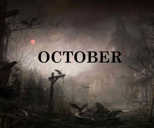 calendar, Halloween, and october image