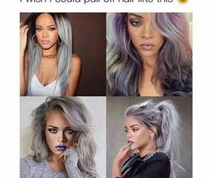 rihanna, hair, and beauty image