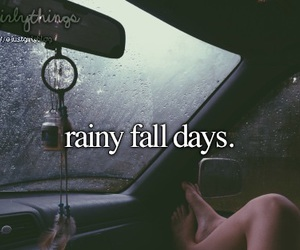 fall, autumn, and rain image