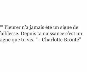 charlotte bronte, pleurer, and vivre image