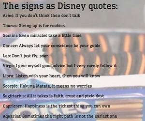 disney, Leo, and signs image