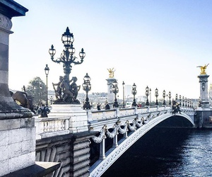 bridge, travel, and paris image