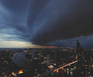 light, city, and storm image